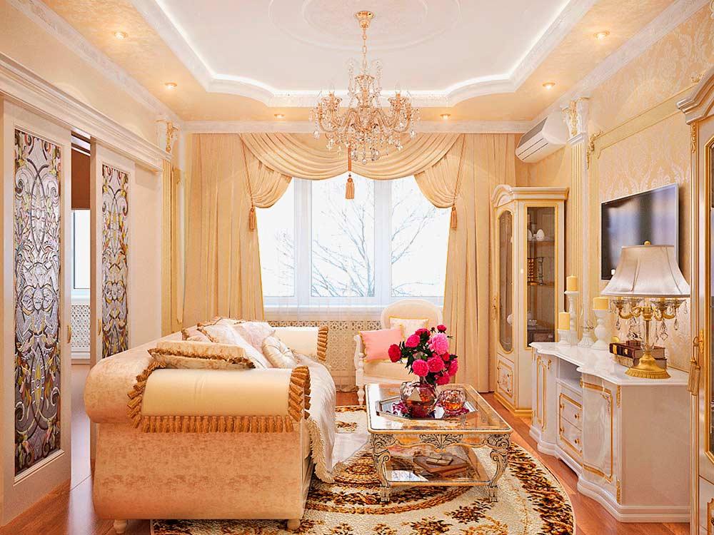 Гостиная-в-дворцовом-стиле
