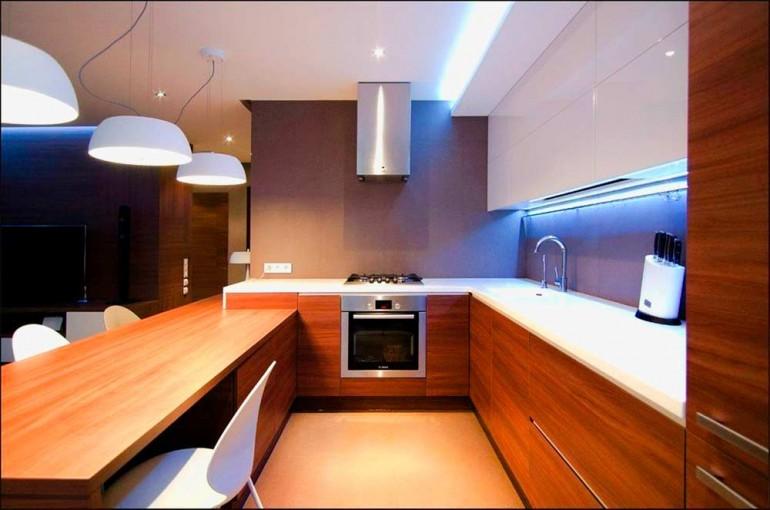 Дизайн-кухни-под-дерево