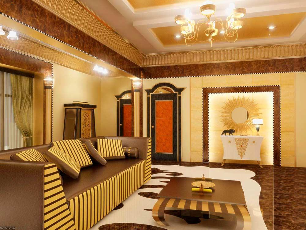 Египетский стиль в дизайне интерьера