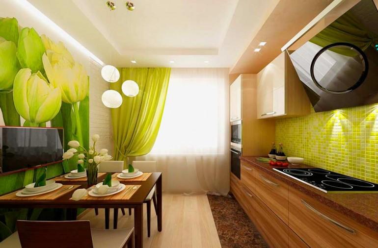 Зеленый-цвет-в-интерьере-кухни