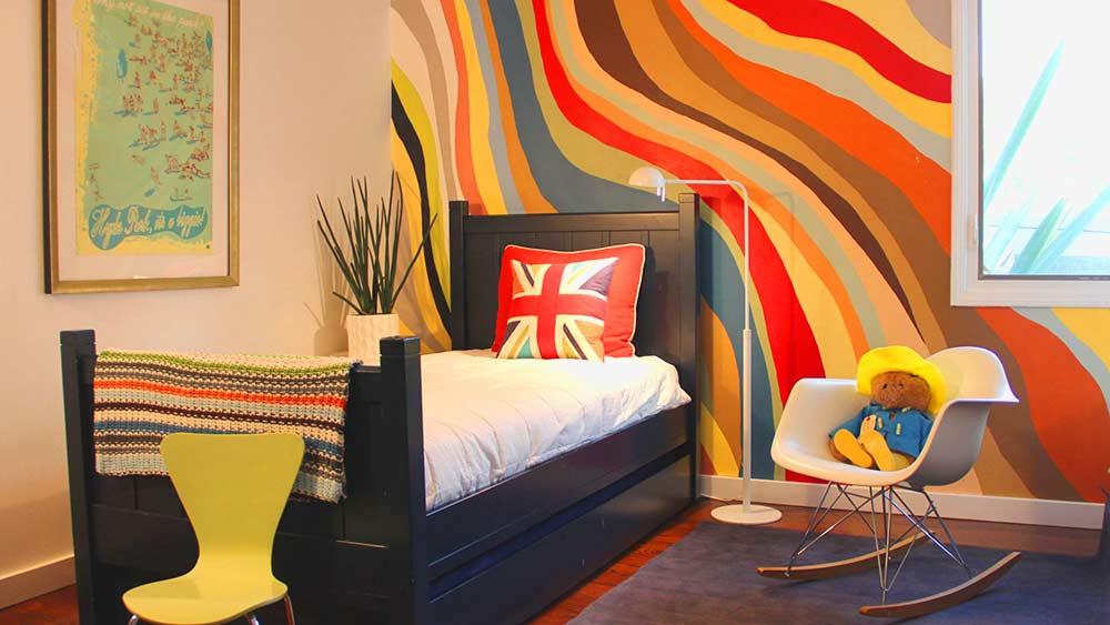 Покраска стен в интерьере комнат
