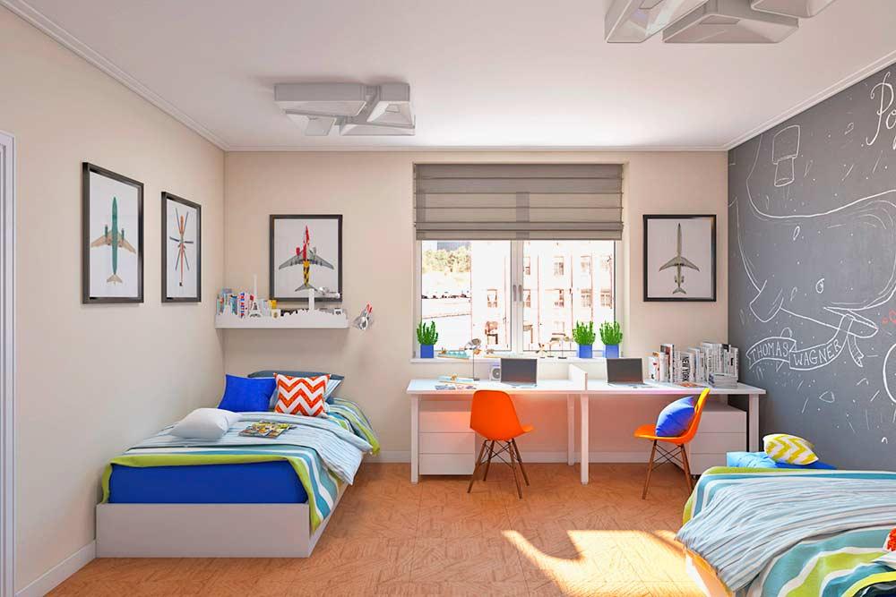 Спокойные-цвета-в-интерьере-детской-комнаты