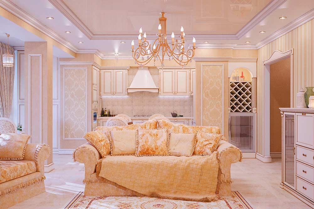 Стильная-и-роскошная-гостиная