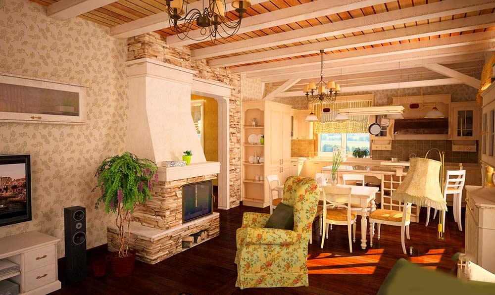 оформление загородного дома в стиле прованс