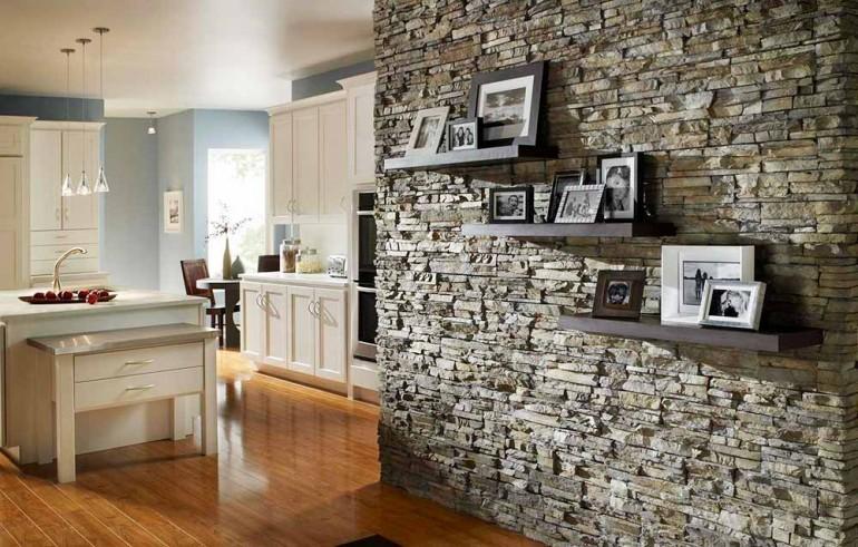 Использование декоративной отделки стен