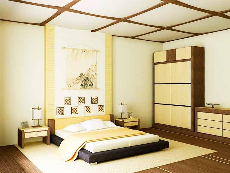 Создание спальни в японском стиле