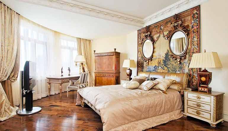 стиль ренессанс в спальне