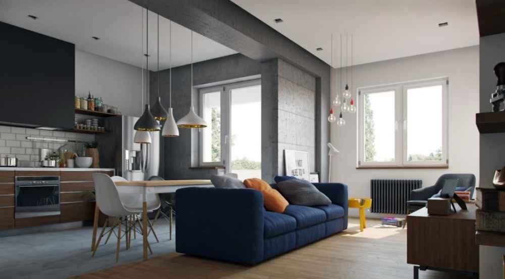Несмотря на количество домов с одинаковым планом постройки, найти две абсолютно одинаковые квартиры просто нереально. Все они, как отпечатки пальцев людей, индивидуальны. Комнат в стандартных квартирах может быть от одной до пяти. Но, одной комнаты может быть маловато, а три и более – очень дорого, поэтому самым оптимальным вариантом будет двухкомнатная квартира. Дизайн двухкомнатной квартиры Первое, с чем необходимо определиться, это цель дизайна комнат. Таких целей может быть множество:  единое пространство для одного человека;  уютное гнездышко для молодой семьи;  территория большой и дружной семьи и прочее. Как бы то ни было квартира должна быть разделена на зоны, переходы между которыми соединят воедино всех домочадцев. А вот отдельные зоны должны сохранять уединение и личное пространство каждого. Только так у каждого будет возможность, не мешая окружающим, провести время по собственному желанию. Перепланировка и дизайн двухкомнатной квартиры После того, как цели определены, может возникнуть вопрос, касающийся необходимости перепланировки. Со временем домочадцев в квартире может стать больше, поэтому может возникнуть необходимость сделать из двух комнат три. Способы перепланировки  Разрушить все до основания и воздвигнуть новые стены. Для этих целей отлично подойдет гипсокартон. Этот вариант подходит для комнат большой площади.  Использовать различные перегородки, которые будут мягко разграничивать пространство. Для таких целей можно использовать матовое стекло или пластиковую раздвижную перегородку. Такой способ внесет минимальные потери в естественное освещение комнаты. Еще одним вариантом такого дизайна могут быть шторы-лапша. Это внесет своеобразный креатив в интерьер. Такую перегородку довольно просто сменить, а соответственно преобразить жилое пространство. Довольно часто перепланировка не подразумевает изменения количества комнат, а всего лишь изменение их размеров. Практически всегда это достигается за счет балкона или коридора. Балкон в большинстве слу
