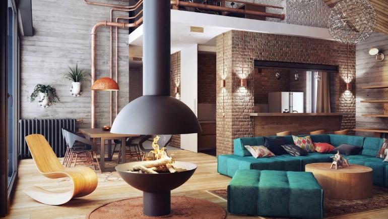 Лофт -современный и креативный стиль интерьера квартиры и дома
