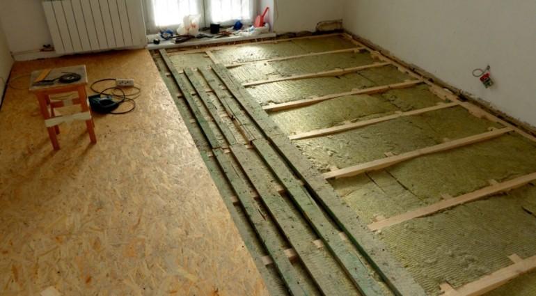 Как провести теплоизоляцию деревянного пола