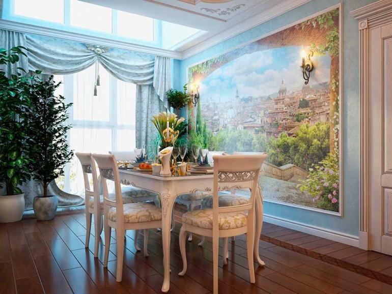Фреска в интерьере помещения