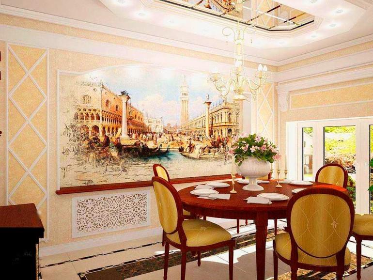Интерьер помещения с фреской