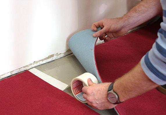 Как закрепить ковролин, чтобы он не скользил по полу