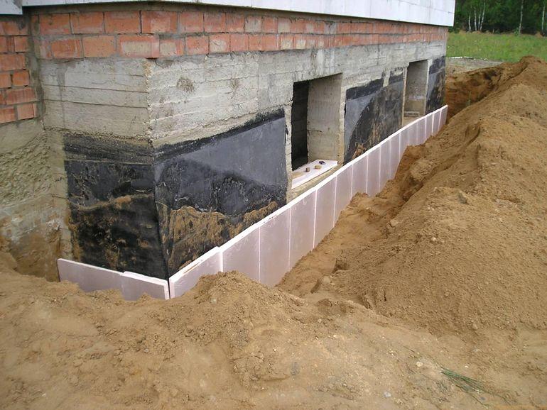 Как надежно утеплить фундамент дома минеральной ватой