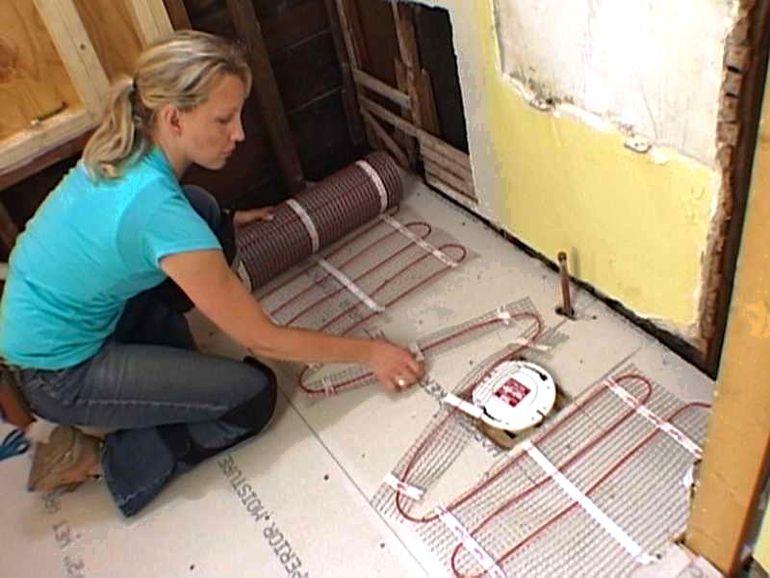 Как отремонтировать пробитый теплый пол без особых потерь