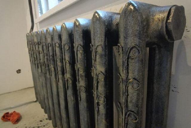 Как покрасить под бронзу советский радиатор отопления