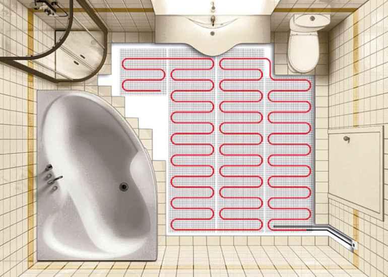 Почему теплый пол в санузле это напрасные траты