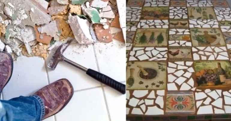 Как применить остатки плитки после ремонта с пользой