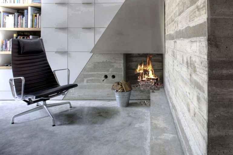 Несколько идей выгодного использования бетонных стен в интерьере