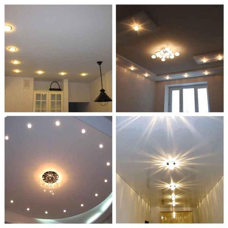 Лучшие решения для размещения точечного светильника на натяжном потолке