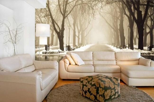 Увеличиваем пространство в квартире с помощью фотообоев